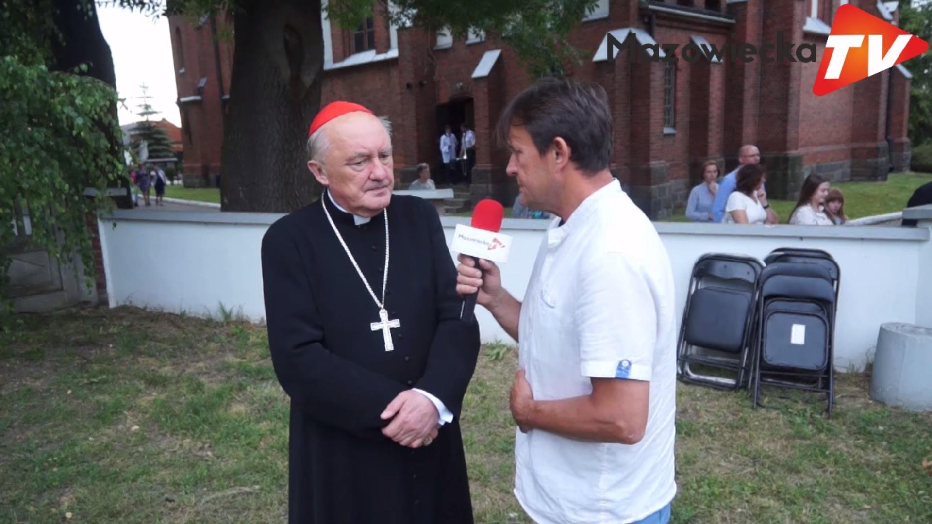 Kard. Kazimierz Nycz na 100-leciu konsekracji kościoła parafialnego w Worowie k. Grójca