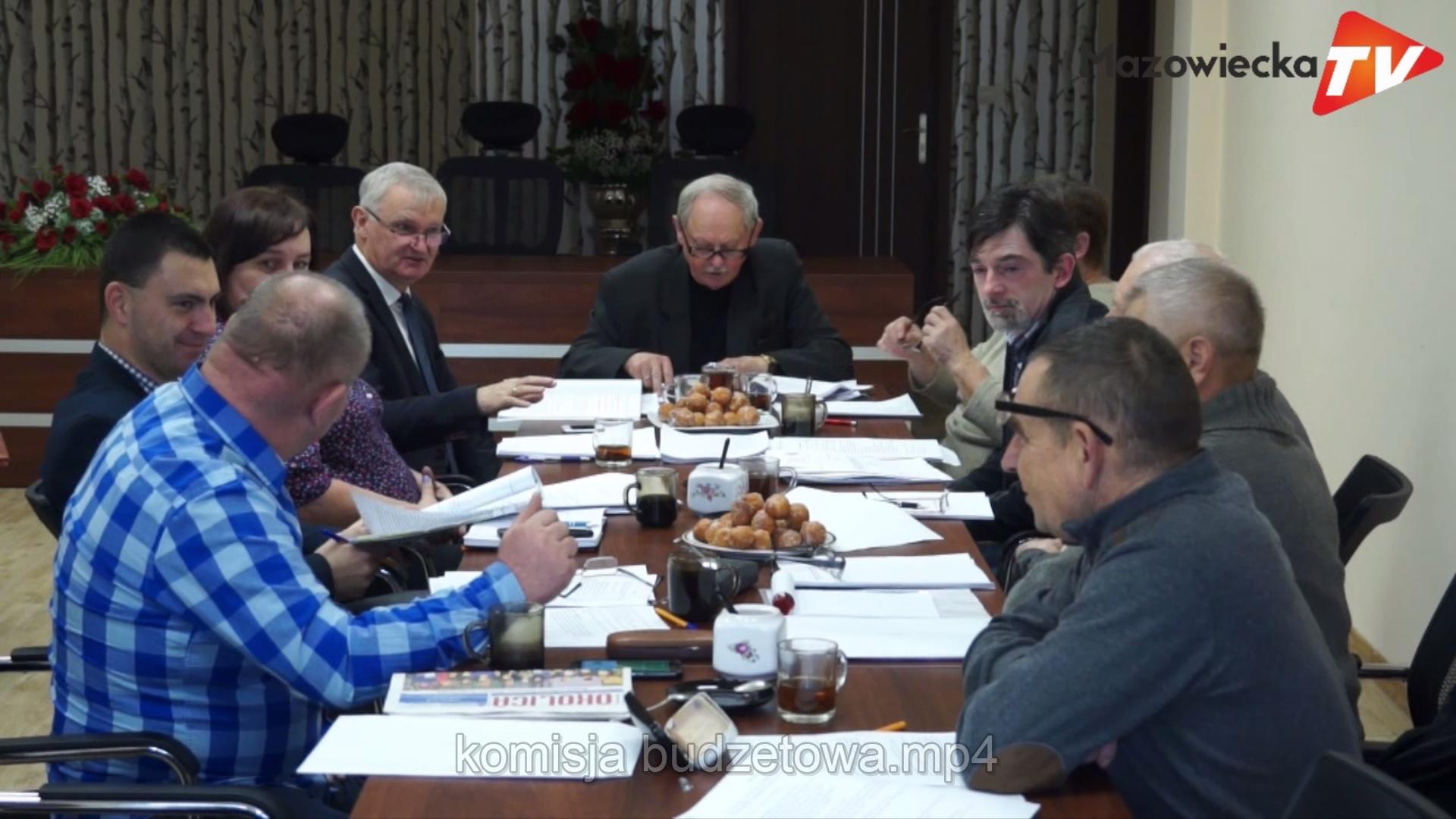 Posiedzenie Komisji Gospodarki, Budżetu i Rolnictwa Rady Miejskiej w Mogielnicy - 11 grudnia 2018 r.